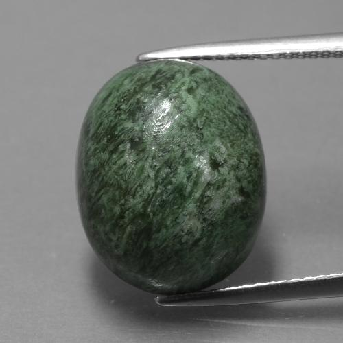 Earthy Green Maw-Sit-Sit Gem - 15.8ct Oval Cabochon (ID: 406823)