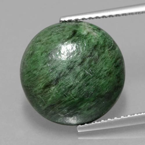 Medium Green Maw-Sit-Sit Gem - 8.1ct Round Cabochon (ID: 406940)