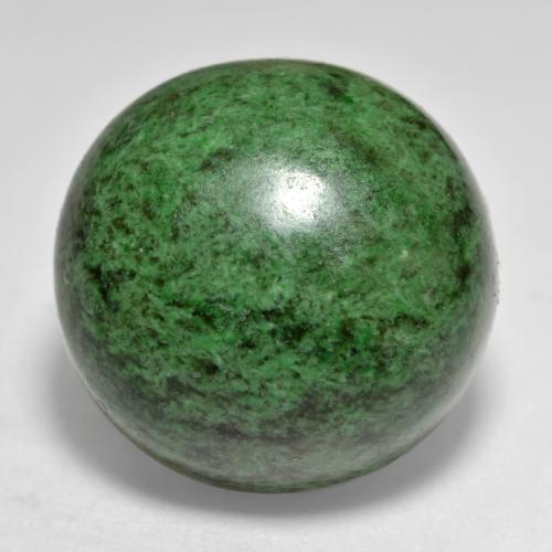 thumb image of 34ct Round Cabochon Green Maw-Sit-Sit (ID: 476802)