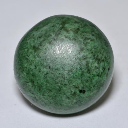 Deep Green Maw-Sit-Sit Gem - 21.3ct Round Cabochon (ID: 476803)