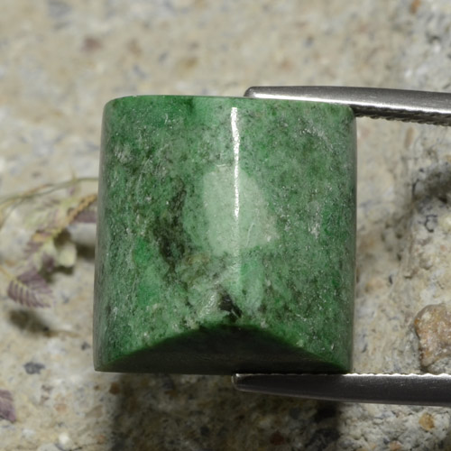Medium Green Maw-Sit-Sit Gem - 19ct Baguette Sugarloaf Cabochon (ID: 476873)