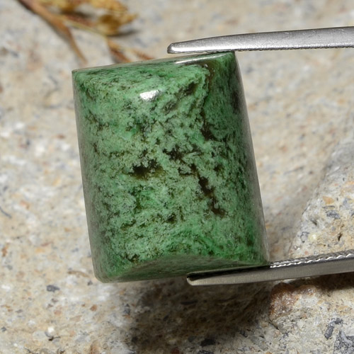 thumb image of 33ct Baguette Sugarloaf Cabochon Green Maw-Sit-Sit (ID: 476975)