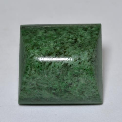 Pale Pine Green Maw-Sit-Sit Gem - 20ct Square Sugarloaf Cabochon (ID: 476985)