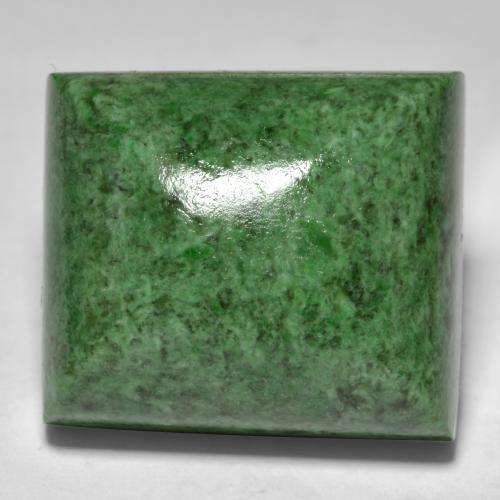 Medium Green Maw-Sit-Sit Gema - 34.3ct Cabujón Baguette Sugarloaf (ID: 477049)