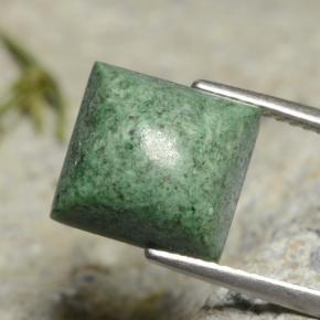 thumb image of 6.3ct Square Sugarloaf Cabochon Green Maw-Sit-Sit (ID: 477651)