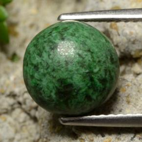 thumb image of 3.7ct Round Cabochon Green Maw-Sit-Sit (ID: 477722)