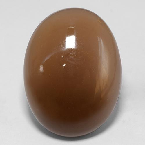 Mocha Moonstone Gem - 30.7ct Oval Cabochon (ID: 401455)