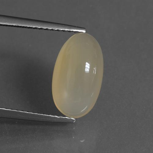 Cream Moonstone Gem - 4ct Oval Cabochon (ID: 430164)