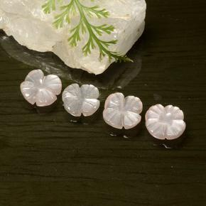 Peach-Pink Moonstone Gem - 1ct Carved Flower (ID: 485369)