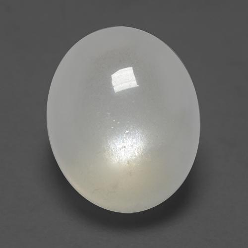 Warm White Moonstone Gem - 3ct Oval Cabochon (ID: 527637)