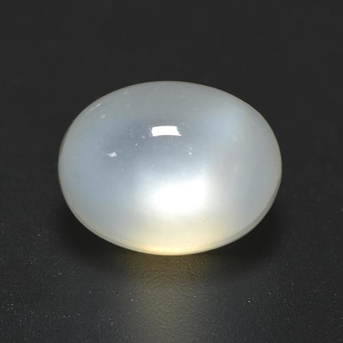 Translucent White Moonstone Gem - 2.4ct Oval Cabochon (ID: 528204)