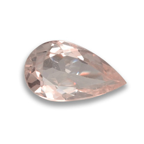 0.62 ct Pear Facet Medium Pink Morganite Gemstone 8.00 mm x 4.7 mm (Product ID: 458015)