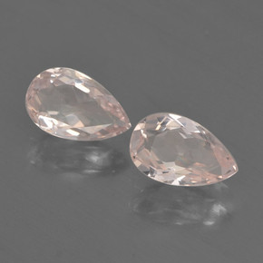 Light Pink Morganite Gem - 0.6ct Pear Facet (ID: 460316)