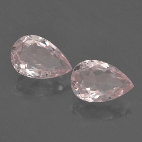 Light Pink Morganite Gem - 0.6ct Pear Facet (ID: 460326)