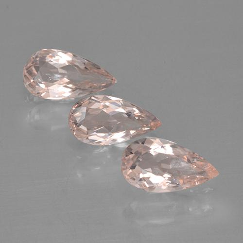 Light Pink Morganite Gem - 0.5ct Pear Facet (ID: 460677)