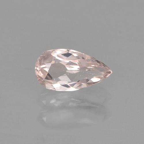 Rose Pink Tone Morganite Gem - 0.4ct Pear Facet (ID: 466868)