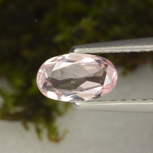 Light Pink Morganite Gem - 0.5ct Oval Facet (ID: 466905)
