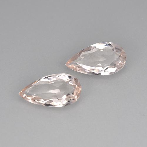 Light Pink Morganite Gem - 0.7ct Pear Facet (ID: 477989)