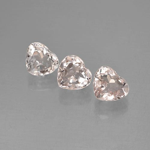 thumb image of 0.6ct Heart Facet Light Pink Morganite (ID: 478788)