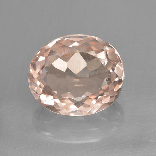 3.2ct Oval Facet Salmon Pink Morganite Gem (ID: 505477)