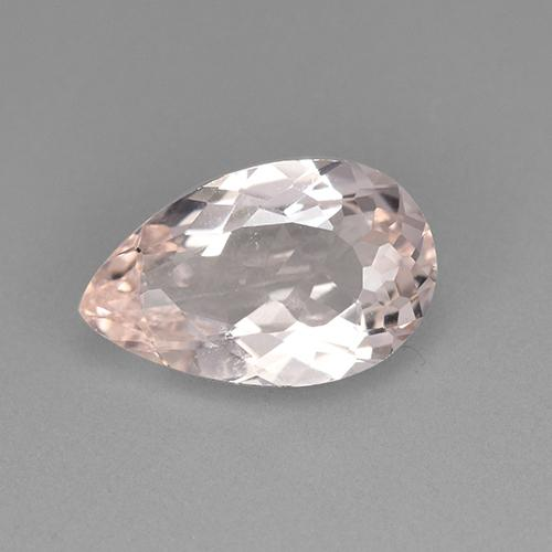 Medium Pink Morganite Gem - 2.1ct Pear Facet (ID: 505478)