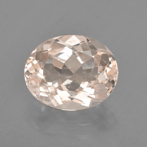 Salmon Pink Morganite Gem - 2.9ct Oval Facet (ID: 505480)