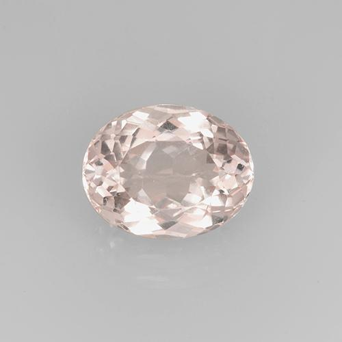 Medium Pink Morganite Gem - 2.7ct Oval Facet (ID: 505661)