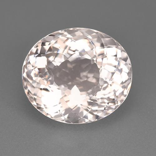 Salmon Pink Morganite Gem - 7.7ct Oval Portuguese-Cut (ID: 512342)