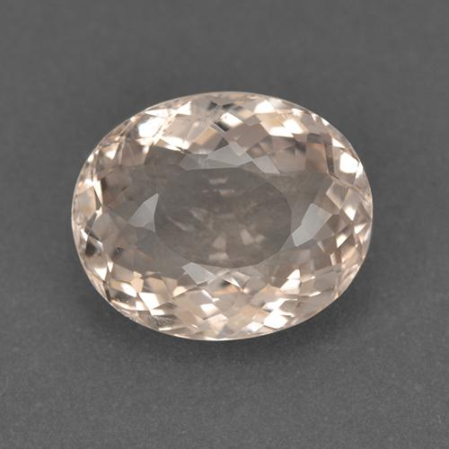 Salmon Pink Morganite Gem - 4.3ct Oval Portuguese-Cut (ID: 514017)