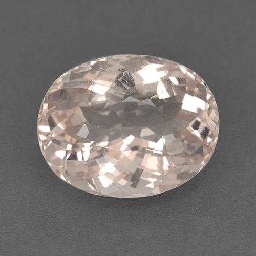 Salmon Pink Morganite Gem - 5.3ct Oval Portuguese-Cut (ID: 514019)