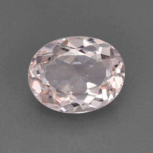 Salmon Pink Morganite Gem - 1.7ct Oval Facet (ID: 517836)