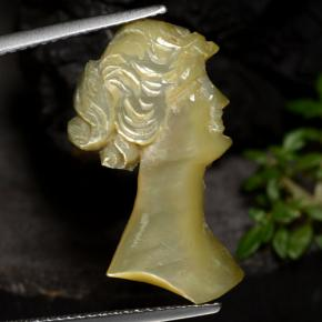 4.7ct Carved Cameo Silver Mother of Pearl Gem (ID: 472748)