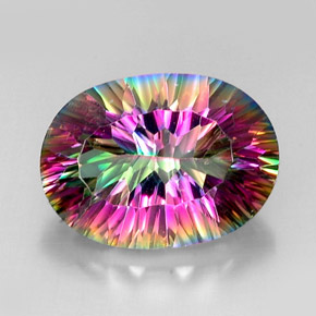 Buy 12.54ct Top Rainbow Mystic Quartz 18.26mm x 13.38mm from GemSelect (Product ID: 233384)