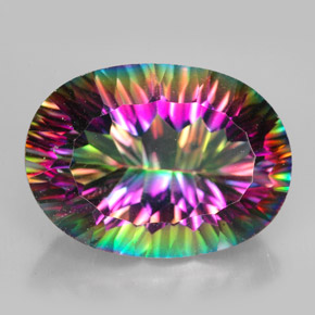 Buy 12.45 ct Top Rainbow Mystic Quartz 18.11 mm x 13.1 mm from GemSelect (Product ID: 262232)