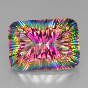 Buy 37.43 ct Top Rainbow Mystic Quartz 25.01 mm x 18 mm from GemSelect (Product ID: 295216)