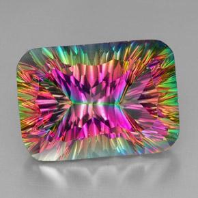39 carat top rainbow mystic quartz gem from brazil