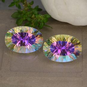 Multicolor Mystic Quartz Gem - 5.2ct Oval Concave Cut (ID: 482623)