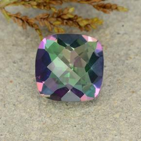Multicolor Mystic Quartz Gem - 2ct Cushion Checkerboard (ID: 483255)
