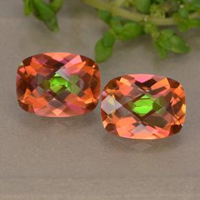 Multicolor Mystic Quartz Gem - 1.7ct Cushion Checkerboard (ID: 487316)