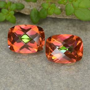 Multicolor Mystic Quartz Gem - 1.7ct Cushion Checkerboard (ID: 487394)