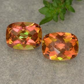 Multicolor Mystic Quartz Gem - 1.8ct Cushion Checkerboard (ID: 487744)