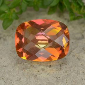 Multicolor Mystic Quartz Gem - 1.8ct Cushion Checkerboard (ID: 488081)