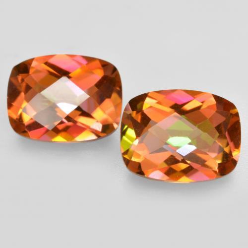 Multicolor Mystic Quartz Gem - 1.8ct Cushion Checkerboard (ID: 488203)