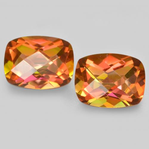 Multicolor Mystic Quartz Gem - 1.8ct Cushion Checkerboard (ID: 488205)