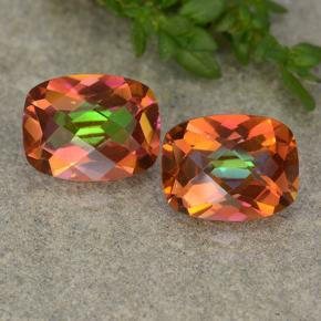 Multicolor Mystic Quartz Gem - 1.8ct Cushion Checkerboard (ID: 488513)
