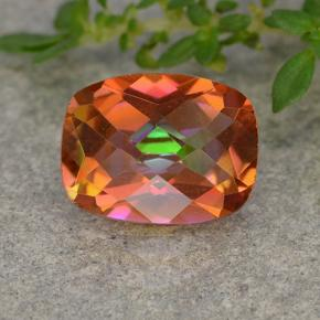 1.7ct Cushion Checkerboard Multicolor Mystic Quartz Gem (ID: 488519)