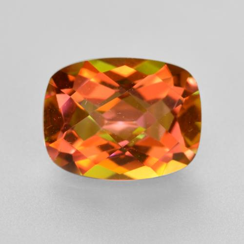 Multicolor Mystic Quartz Gem - 1.9ct Cushion Checkerboard (ID: 488525)