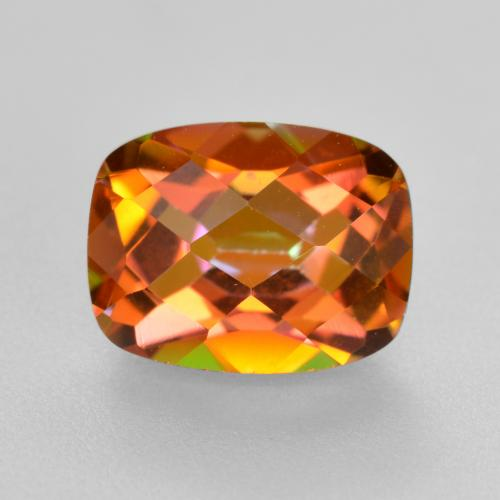 Multicolor Mystic Quartz Gem - 1.8ct Cushion Checkerboard (ID: 488531)