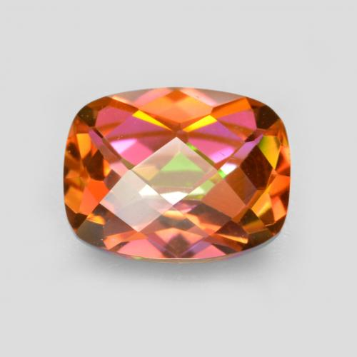 Multicolor Mystic Quartz Gem - 1.9ct Cushion Checkerboard (ID: 488538)