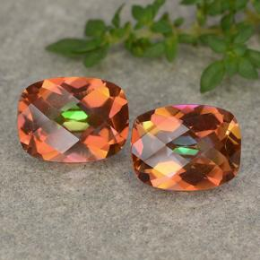 Multicolor Mystic Quartz Gem - 1.7ct Cushion Checkerboard (ID: 488539)